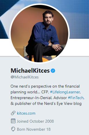Michael Kitces Twitter
