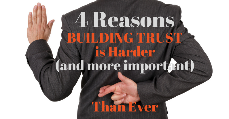 4 Reasons Building Trust is Harder than Ever