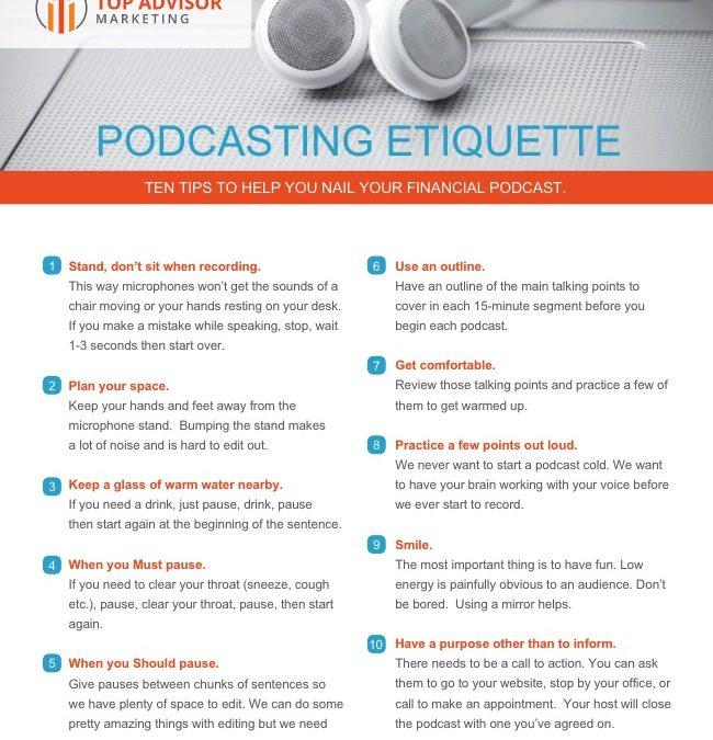 Podcast Etiquette