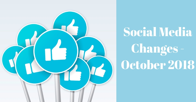 "like icon on stickers with text ""social media changes - october 2018"""