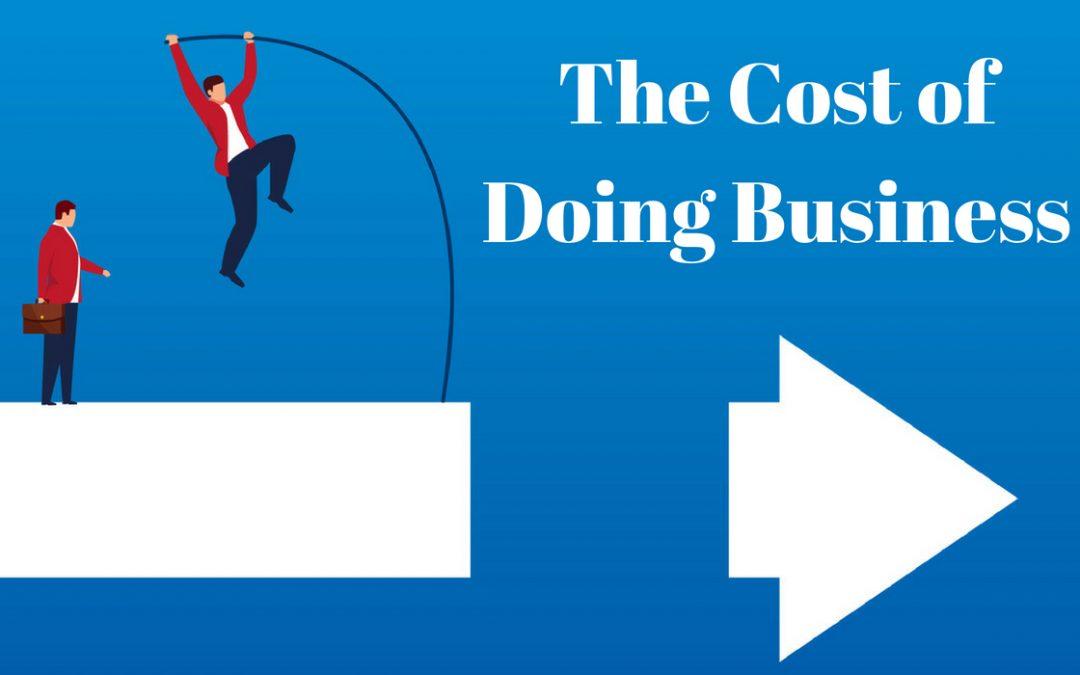 Cost of doing Business - man jumping towards arrow forward